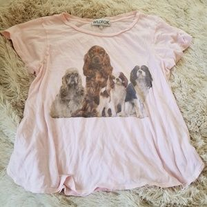 Wildfox dog print Beggars cotton tee Large